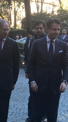 Italian President of the Council of Ministers Giuseppe Conte